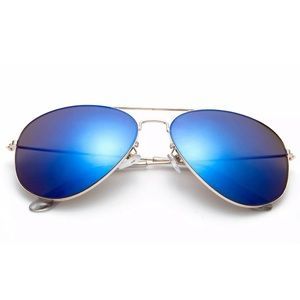 Accessories - Blue Mirrored Lens Aviator Sunglasses